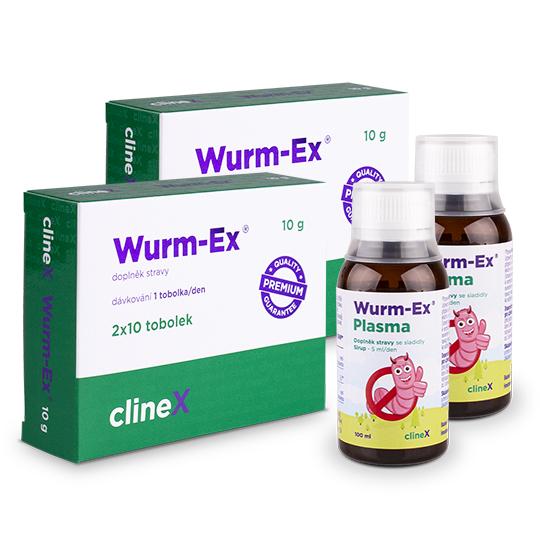 2x Wurm-Ex Plasma + 2 dvojbalení Wurm-Ex